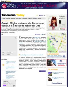 2012 12 19 Quarto Miglio, antenna via Ferentano- conclusa la raccolta fondi del CdZ - RomaToday