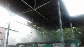 Centro di raccolta di viale Togliatti chiuso per incendio