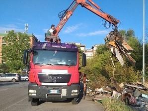 Rimosse 30 tonnellate di rifiuti in V municipio