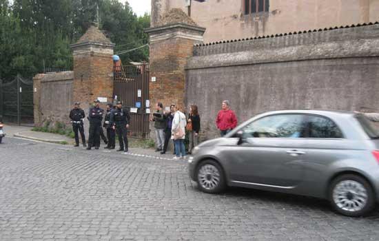 Sgombero Appia Antica Caffarella 30 ottobre 2019