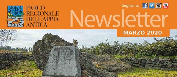 Newsletter Parco Regionale Appia Antica 28 Marzo 2020😷