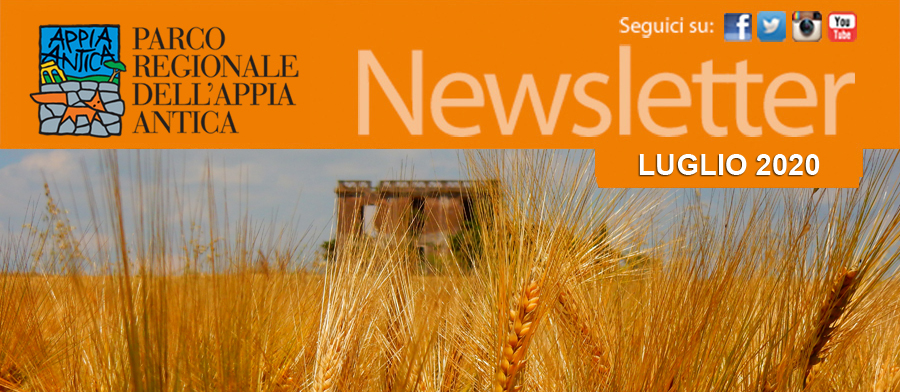 Newsletter Parco Regionale Appia Antica 29 luglio 2020