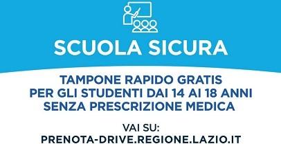 """""""Scuola sicura"""": tamponi rapidi nei drive-in senza certificato medico per gli studenti"""